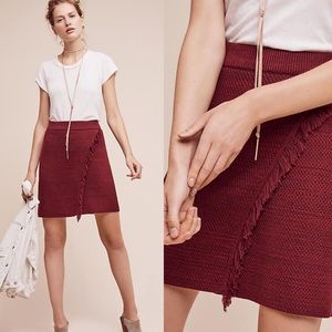 Anthropologie Maeve Red Knit Sweater Skirt M X1063